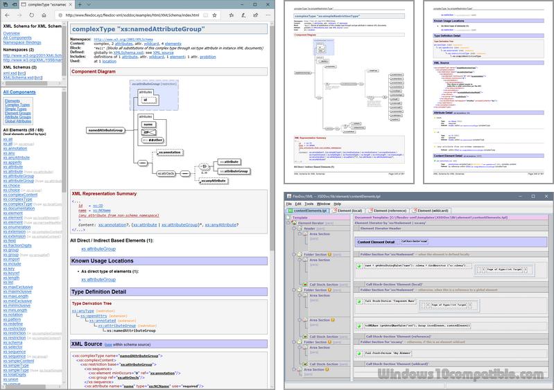 FlexDoc/XML XSDDoc 2 9 1 Free download